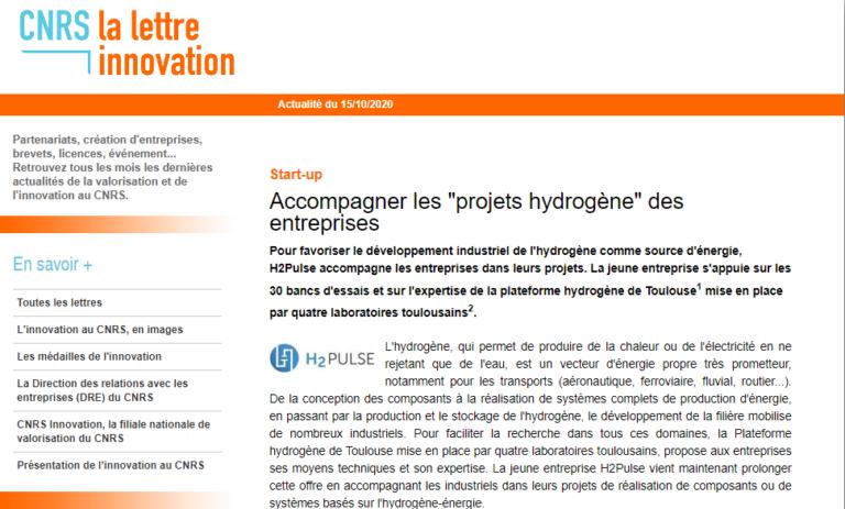 article cnrs H2PULSE accompagner les projets hydrogene des entreprises